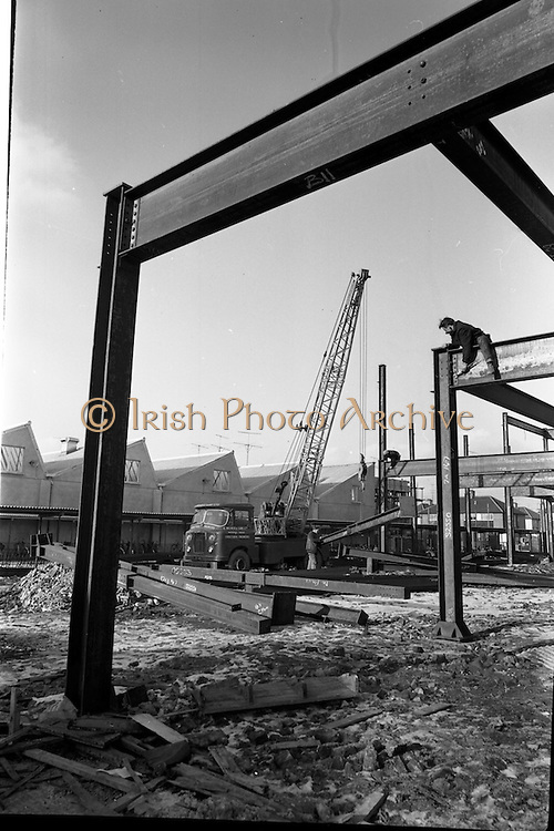 17/01/1963<br /> 01/17/1963<br /> 17 January 1963<br /> G. Milner and Sons Ltd. Hydrocon Highlander Crane at work at Whitehall, Dublin.