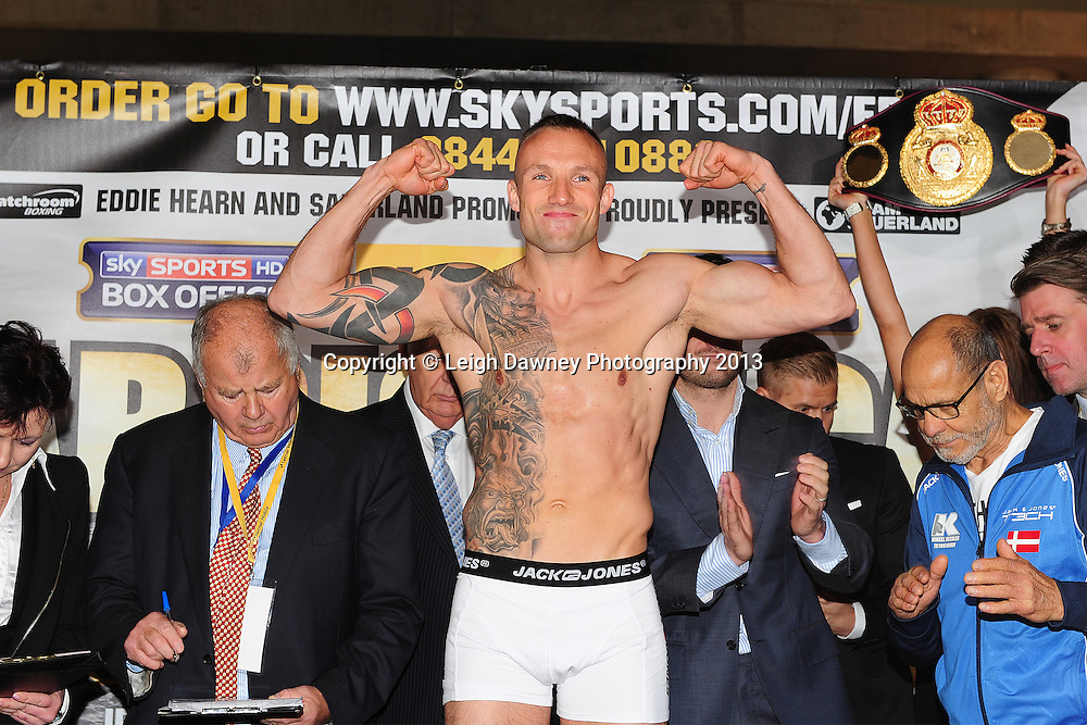 Carl Froch and Mikkel Kessler (pictured) at the Public Weigh In at London Piazza, 02 Arena, London, United Kingdom. 24.05.13. Credit © Leigh Dawney Photography 2013.