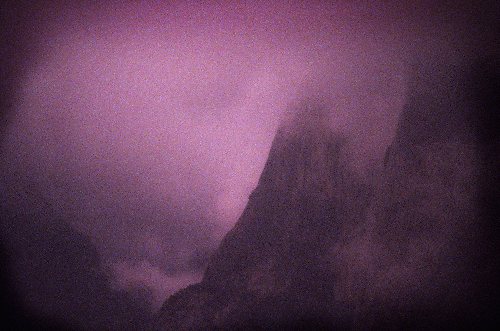 Storm and fog, Yosemite Valley, CA