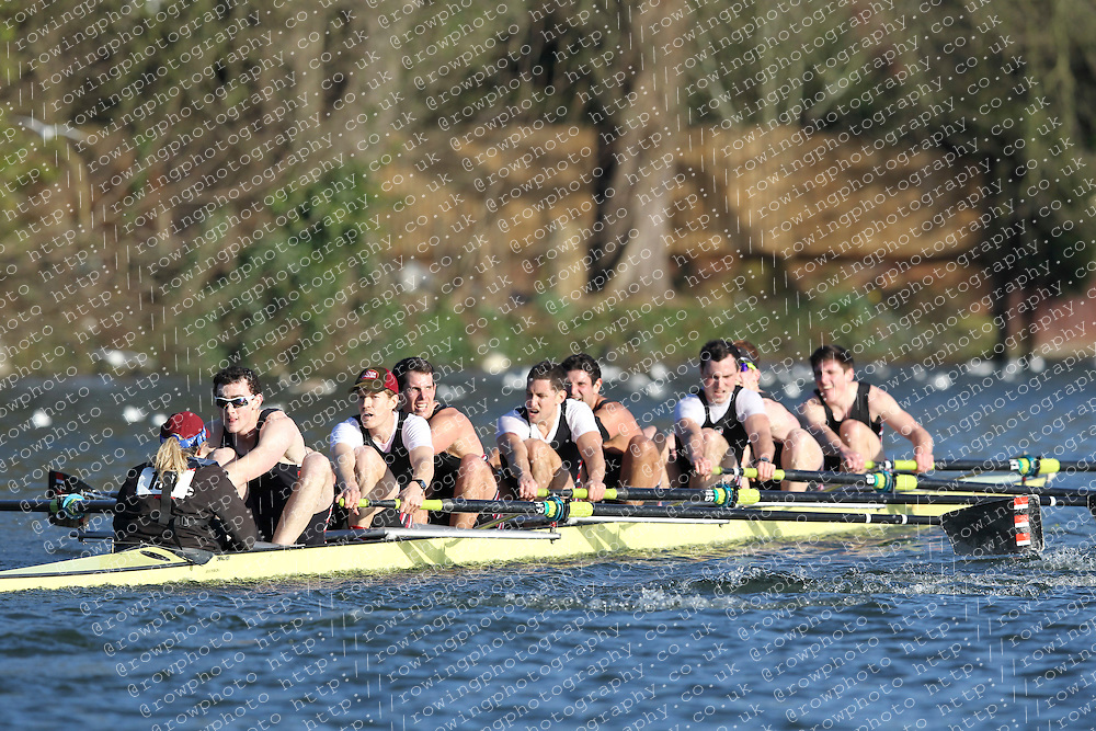 2012.02.25 Reading University Head 2012. The River Thames. Division 2. Thames Rowing Club Sen 8+