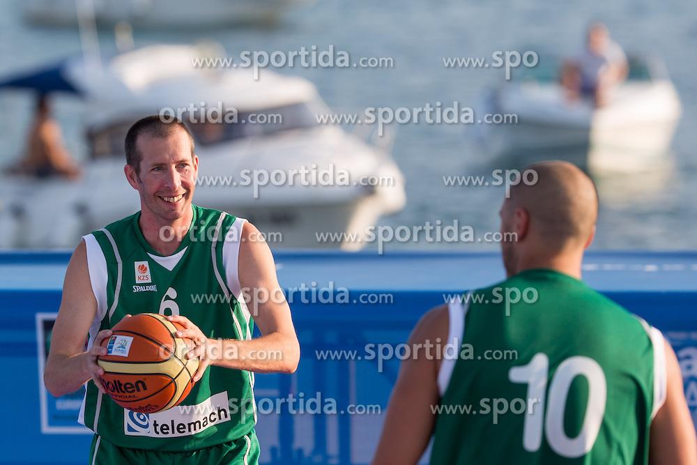 Jaka Daneu during exhibition match between Croatia, Italy and Slovenia at Eurobasket 2013 promotion Basketball on sea raft on August 24, 2013, Koper, Slovenia. (Photo by Matic Klansek Velej / Sportida.com)