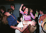 Kiara von Eichel-Butler and Lucy Sykes dancing. Plum & Lucy Sykes 30th birthday. Lot 61,  550 West 21 St. NY.   4/12/99<br />