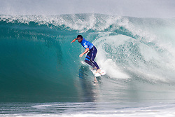 Michel Bourez of Tahiti finished equal 13th in the 2017 Quiksilver Pro France after placing second to Sebastian Zietz of Hawaii in Heat 5 of Round Three at Hossegor, Landes, France.