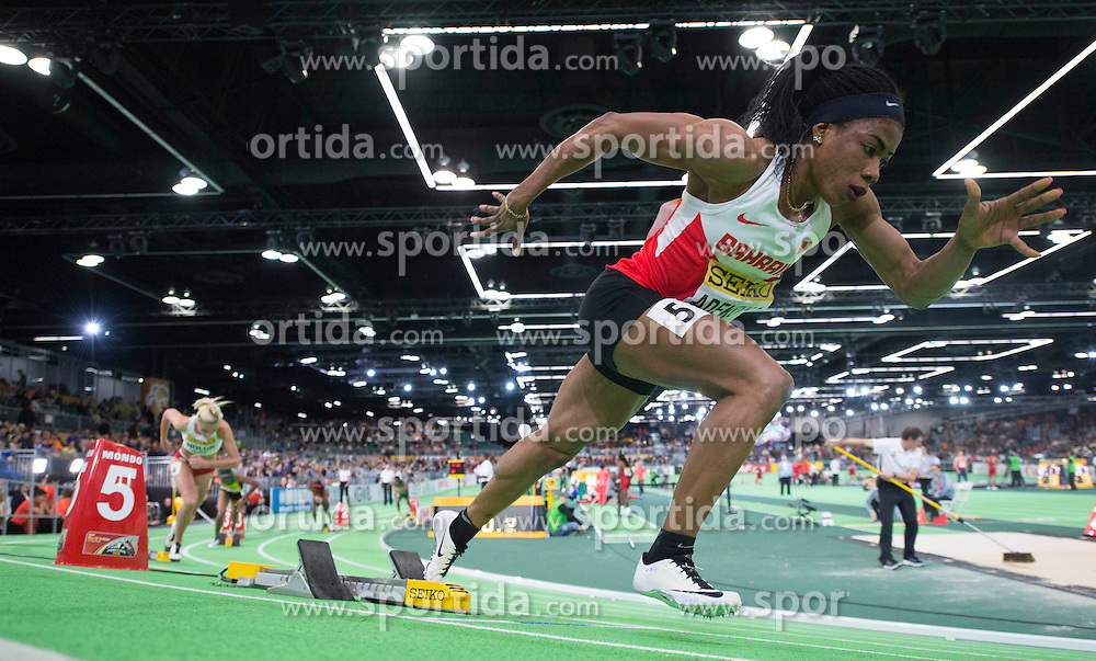 Oluwakemi Adekoya of Bahrain competes in the Women's 400 Metres Semi-Final during day two of the IAAF World Indoor Championships at Oregon Convention Center in Portland, Oregon, the United States, on March 18, 2016. EXPA Pictures &copy; 2016, PhotoCredit: EXPA/ Photoshot/ Yang Lei from Chongqing<br /> <br /> *****ATTENTION - for AUT, SLO, CRO, SRB, BIH, MAZ, SUI only*****
