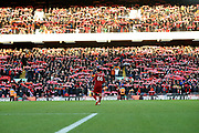 Liverpool defender Trent Alexander-Arnold (66) and his Liverpool faithful during the Premier League match between Liverpool and Brighton and Hove Albion at Anfield, Liverpool, England on 30 November 2019.