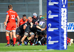 Exeter Braves drive the scrum forward- Mandatory by-line: Nizaam Jones/JMP - 22/04/2019 - RUGBY - Sandy Park Stadium - Exeter, England - Exeter Braves v Saracens Storm - Premiership Rugby Shield