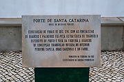 The Fort of Santa Catarina, Figueira da Foz, Portugal. This fort protected the entrance to the Mondego river which was a main route inland