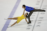 06 Aug 2009: Lynn Kriengkrairut of the All Year Figure Skating Club and Logan Giulietti-Schmitt of the Ann Arbor Figure Skating Club skate in the Senior Free Dance at the 2009 Lake Placid Ice Dance Championships in Lake Placid, N.Y.  The couple placed third in the event.  © Todd Bissonette