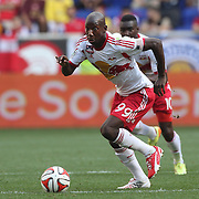 Bradley Wright-Phillips, New York Red Bulls, in action during the New York Red Bulls Vs Arsenal FC,  friendly football match for the New York Cup at Red Bull Arena, Harrison, New Jersey. USA. 26h July 2014. Photo Tim Clayton