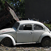 Abandoned Volkswagen Beetle in Port au Prince, Haiti