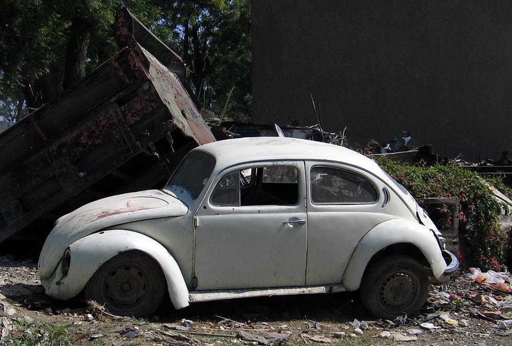 Abandoned Volkswagen Beetle in Port au Prince, Haiti