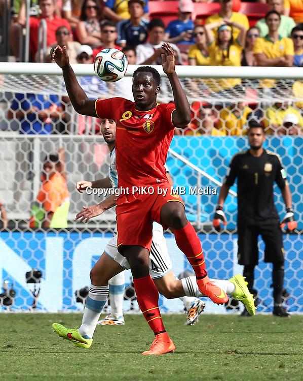 Fifa Soccer World Cup - Brazil 2014 - <br /> ARGENTINA (ARG) Vs. BELGIUM (BEL) - Quarter-finals - Estadio Nacional Brasilia -- Brazil (BRA) - 05 July 2014 <br /> Here Argentine player Pablo Zabaleta () and Belgian player  Romelu LUKAKU ()<br /> &copy; PikoPress