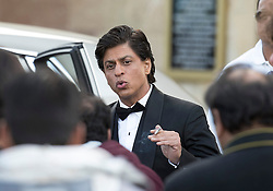 © Licensed to London News Pictures. 27/03/2015. Shah Rukh Khan (pictured) filming for his new Bollywood production 'FAN' at Blenheim Palace in Woodstock, Oxfordshire, UK on March 27, 2015. Shah Rukh Khan (Also known as SRK) has appeared in more than 80 Bollywood films and is considered to be one of the worlds biggest film and television stars. Photo credit: Mark Hemsworth/LNP