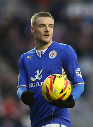 Leicester City's Jamie Vardy - Photo mandatory by-line: Matt Bunn/JMP - Tel: Mobile: 07966 386802 25/01/2014 - SPORT - FOOTBALL - King Power Stadium - Leicester - Leicester City v Middlesbrough - Sky Bet Championship