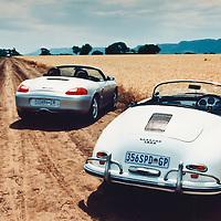 Porsche Boxster (1997) (left) and Porsche 356 A Speedster (1958) (right), Magaliesburg, South Africa, 1997