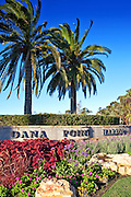 Vintage Stock Photo of Dana Point Harbor Monument