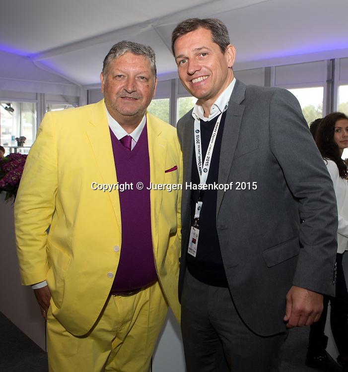 Dr.Manfred Dirrheimer im Gespraech mit Turnierveranstalter Michael Mronz<br /> <br /> Tennis - BMW Open - ATP -   - Muenchen - Bayern - Germany  - 3 May 2015. <br /> &copy; Juergen Hasenkopf