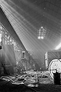 Derelict melting shop at Hadfields Leeds Road Works, formerly Brown Bayleys Steels which is now the site of Don Valley Stadium. <br /> September 1982