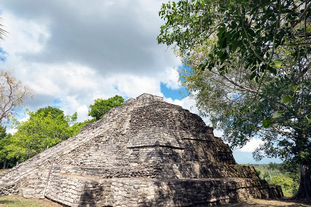Costa Maya, Mexico and Chacchoben Mayan Ruins.