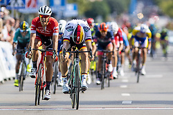 September 1, 2018 - Bruxelle, Belgique - ACKERMANN Pascal (GER) of Bora - Hansgrohe sprints to victory before STUYVEN Jasper (BEL) of Trek - Segafredo in the Brussels Cycling Classic 2018  with start and finish in Brussels on September 01, 2018 in Brussel, Belgium, 1/09/2018 (Credit Image: © Panoramic via ZUMA Press)
