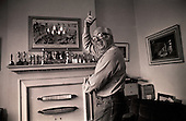 Richard Attenborough at home in 1985