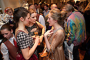 EBBA HEUMAN; BEATA HEUMAN; VIOLET NAYLOR-LEYLAND, Book launch party for the paperback of Nicky Haslam's book 'Sheer Opulence', at The Westbury Hotel. London. 21 April 2010