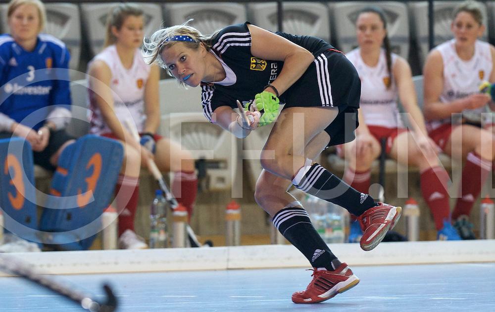 Prague - EuroHockey Indoor Championship (W) 2014<br /> 11 GER v ENG (Pool A)<br /> foto: Lena Jacobi.<br /> FFU PRESS AGENCY COPYRIGHT FRANK UIJLENBROEK