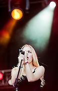 Brittany Holljes of Delta Rae performs during day 5 of the 2013 Austin City Limits festival on Fri., Oct. 12, 2013 at Zilker Park.<br /> Ashley Landis for American-Statesman