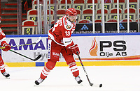 2020-02-12 | Ljungby, Sweden: Troja-Ljungby (13) Tobias Törnkvist during the game between IF Troja / Ljungby and Huddinge IK at Ljungby Arena ( Photo by: Fredrik Sten | Swe Press Photo )<br /> <br /> Keywords: Ljungby, Icehockey, HockeyEttan, Ljungby Arena, IF Troja / Ljungby, Huddinge IK, fsth200212, ATG HockeyEttan, Allettan