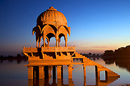 Gadsisar Lake, Jaisalmer, India.<br />