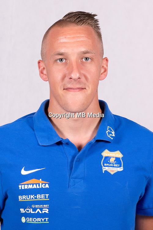 2016.07.05 Nieciecza<br /> Pilka nozna Ekstraklasa sezon 2016/2017<br /> sesja zdjeciowa druzyny Bruk-Bet Termalica Nieciecza<br /> N/z Patryk Fryc<br /> Foto Lukasz Laskowski / PressFocus<br /> <br /> 2016.07.05 Nieciecza<br /> Football Polish Ekstraklasa season 2015/2016<br /> photocall of team Bruk-Bet Termalica Nieciecza<br /> Patryk Fryc<br /> Credit: Lukasz Laskowski / PressFocus