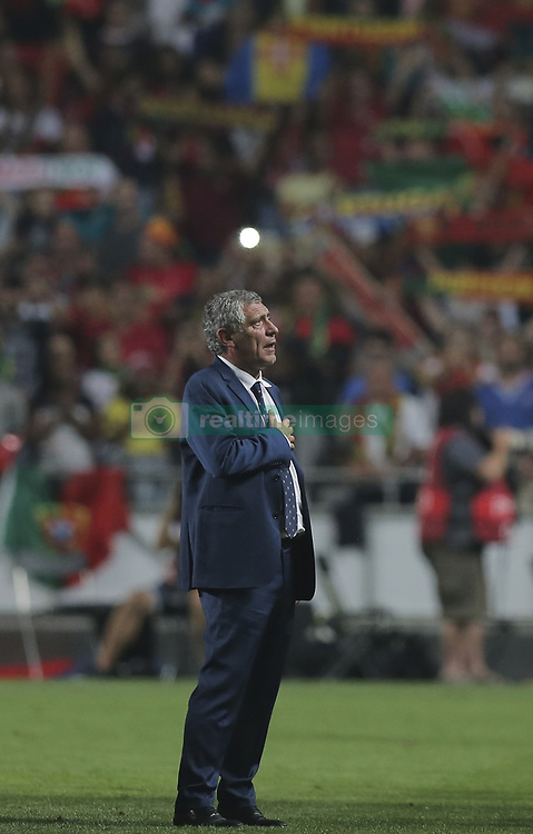 October 10, 2017 - Na - Lisbon, 10/10/2017 - The Portuguese football team received their Swiss counterpart tonight in the last game of the group stage to qualify for the 2018 FIFA World Cup in Russia , next June. Portugal won 2-0 to reach the final. Fernando Santos  (Credit Image: © Atlantico Press via ZUMA Wire)