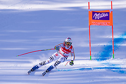 18.01.2019, Olympia delle Tofane, Cortina d Ampezzo, ITA, FIS Weltcup Ski Alpin, Abfahrt, Damen, im Bild Viktoria Rebensburg (GER) // Viktoria Rebensburg of Germany in action during her run in the ladie's Downhill of FIS ski alpine world cup at the Olympia delle Tofane in Cortina d Ampezzo, Italy on 2019/01/18. EXPA Pictures © 2019, PhotoCredit: EXPA/ Johann Groder