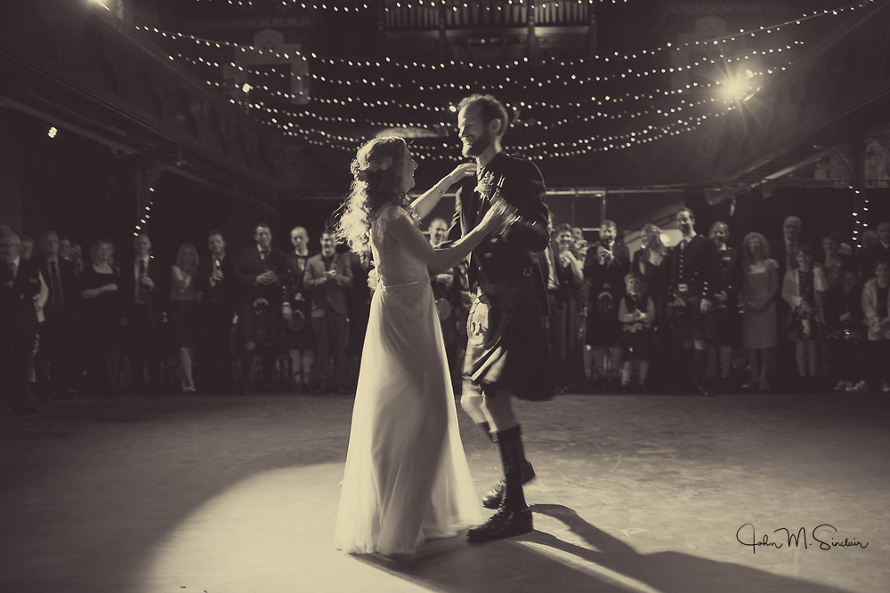 Jenny and Stuart, Cottiers Theatre wedding