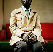 NAIROBI, KENYA – MARCH 10, 2010: Portrait of a blind African man who is HIV positive.