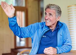 THEMENBILD - Interview mit Extrembergsteigerlegende Peter Habeler anlässlich seines 75. Geburtstages in seinem Haus in Tux in Tirol am 12. Juli 2017 // Interview with the austrian climber legend Peter Habeler in Tirol on 2017/07/12. EXPA Pictures © 2017, PhotoCredit: EXPA/ Johann Groder