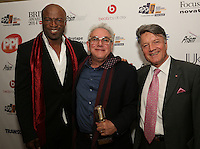 Seal, Trevor Horn & Fran Nevrkla (l to r). The Music Producers Guild Awards :Thursday, Feb 13. 2014 (Photo John Marshall/JM Enternational)