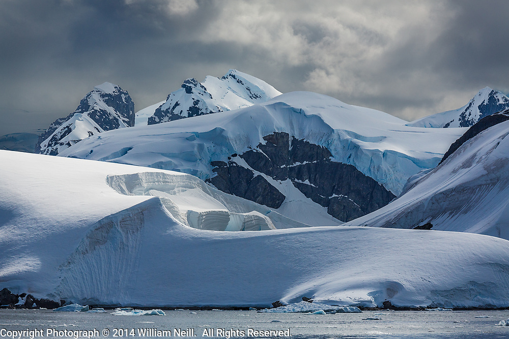 Mountains and Glaciers at Scontorp Cove, Paradise Bay, Antarctic Peninsula, Antarctica  2014