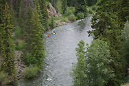 Kayakers on the Blue River, Colorado