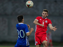 ORHEI, MOLDOVA - Friday, October 11, 2019: Wales' Rhys Norrington-Davies (R) during the UEFA Under-21 Championship Italy 2019 Qualifying Group 9 match between Moldova and Wales at the Orhei District Sports Complex. (Pic by Kunjan Malde/Propaganda)