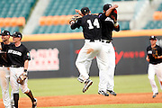 NEW TAIPEI CITY, TAIWAN - NOVEMBER 16:  Members of Team New Zealand celebrate defeating Team Thailand in Game 3 of the 2013 World Baseball Classic Qualifier at Xinzhuang Stadium in New Taipei City, Taiwan on Friday, November 1, 2012.  Photo by Yuki Taguchi/WBCI/MLB Photos