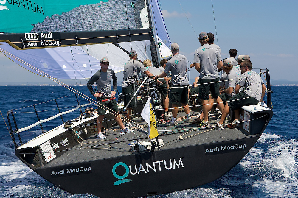 Quantum Racing during the fifth race of the AUDI Medcup 14th Breitling Regatta in Puerto Portals