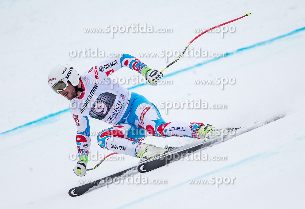 27.02.2015, Kandahar, Garmisch Partenkirchen, GER, FIS Weltcup Ski Alpin, Abfahrt, Herren, 2. Training, im Bild Guillermo Fayed (FRA) // Guillermo Fayed of France in action during the 2nd trainings run for the men's Downhill of the FIS Ski Alpine World Cup at the Kandahar course, Garmisch Partenkirchen, Germany on 2015/27/02. EXPA Pictures © 2015, PhotoCredit: EXPA/ Johann Groder