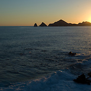 Sunset at medano beach. Cabo San Lucas, BCS.Mexico.