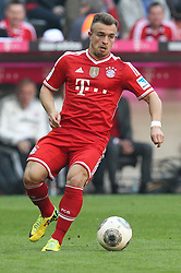 29.03.2014, Allianz Arena, Muenchen, GER, 1. FBL, FC Bayern Muenchen vs TSG 1899 Hoffenheim, 28. Runde, im Bild Xherdan Shaqiri #11 (FC Bayern Muenchen) // during the German Bundesliga 28th round match between FC Bayern Munich and TSG 1899 Hoffenheim at the Allianz Arena in Muenchen, Germany on 2014/03/29. EXPA Pictures © 2014, PhotoCredit: EXPA/ Eibner-Pressefoto/ Kolbert<br /> <br /> *****ATTENTION - OUT of GER*****