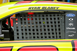 April 6, 2018 - Fort Worth, TX, U.S. - FORT WORTH, TX - APRIL 06: Monster Energy NASCAR Cup Series driver Ryan Blaney (12) backs out of the garage during the Monster Energy NASCAR Cup Series practice on April 6, 2018 at the Texas Motor Speedway in Fort Worth, Texas. (Photo by Matthew Pearce/Icon Sportswire) (Credit Image: © Matthew Pearce/Icon SMI via ZUMA Press)