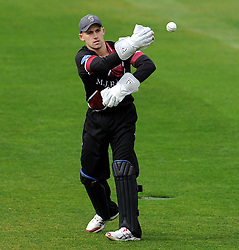Somerset's James Regan - Photo mandatory by-line: Harry Trump/JMP - Mobile: 07966 386802 - 30/03/15 - SPORT - CRICKET - Pre Season Fixture - T20 - Somerset v Gloucestershire - The County Ground, Somerset, England.