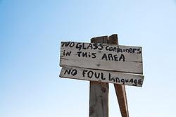 Handwritten Sign Outdoors