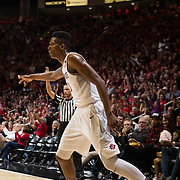05 March 2016: The San Diego State Aztecs basketball team took on UNLV Rebels Saturday night  to wrap up the conference season. The Aztecs sent the seniors out with a 92-56 win at Viejas Arena.