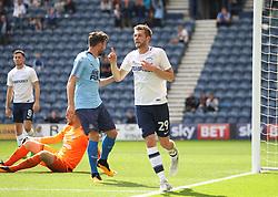 Tom Barkhuizen of Preston North End celebrates scoring his sides first goal - Mandatory by-line: Jack Phillips/JMP - 22/07/2017 - FOOTBALL - Deepdale - Preston, England - Preston North End v Newcastle United - Pre-Season Club Friendly